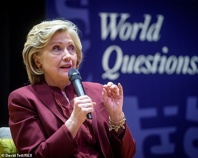 Meanwhile many people have felt Hilary Clinton (pictured on November 13) had taken their votes for granted at the last election and that she, therefore, had not deserved them. This public opinion would suggest she is not a frontrunner for the election looming