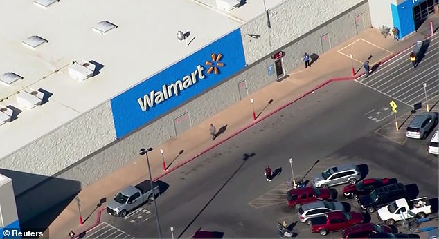 A gunman shot and killed a man and a woman in a Walmart (pictured) parking lot in Duncan, Oklahoma, before turning the gun on himself when an armed citizen intervened
