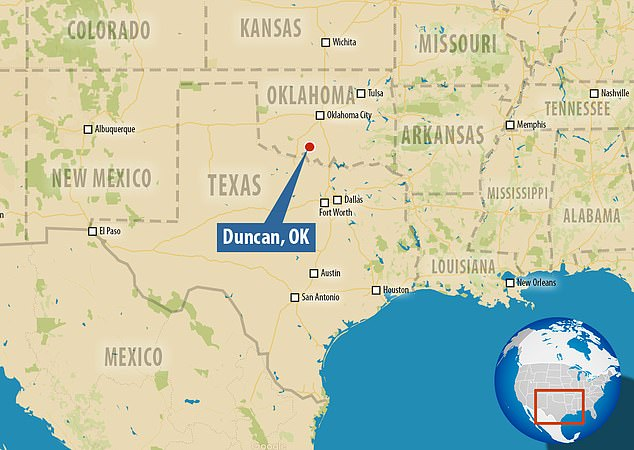 According to the Oklahoma Highway Patrol, a man wearing all black opened fire outside the supercenter in Duncan (depicted above), which is located at 3393 North 81 Highway