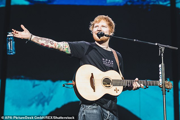 Leeds Crown Court heard that when Ed Sheeran announced his 2018 stadium tour his promoter attempted to stop the resale of tickets on secondary sites by writing to 'the big four'. Prosecutor Jonathan Sandiford said: 'Seatwave, Get Me In and Stub Hub agreed not to list Ed Sheeran tickets for resale, but Viagogo chose to do so.' (File image)