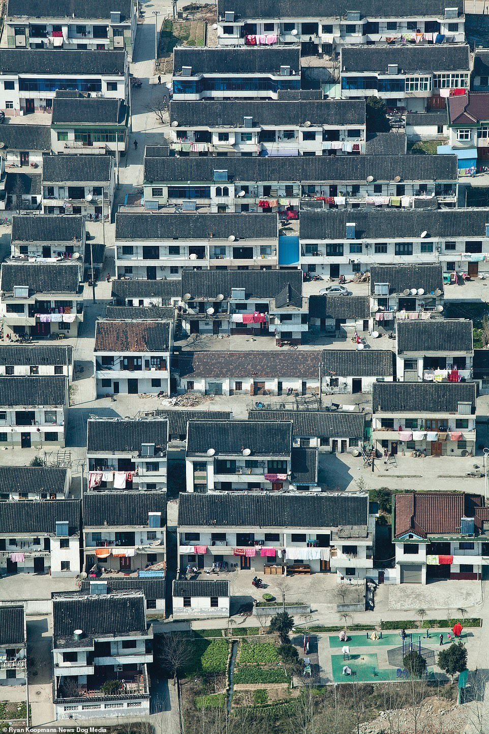 Farmer's housing in Jiangsu, China, 2012. A leading province in education, tourism and home to the world's leading exporters of electronic equipment