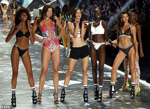 End of an era: The Victoria's Secret Fashion Show, pictured in 2018, has been canceled for the first time in 23 yearsafter plummeting ratings and years of backlash over its lack of diversity