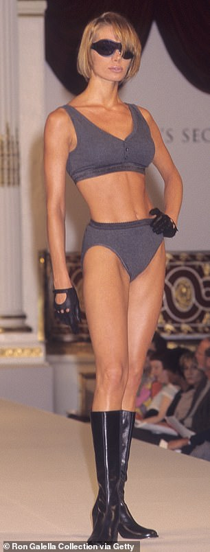 Beginning: The first Victoria's Secret Fashion Show was held at the Plaza Hotel in New York City in 1995 with models such as Angelika Kallio (pictured) and Leilani walking the runway