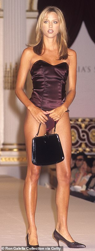 Beginning: The first Victoria's Secret Fashion Show was held at the Plaza Hotel in New York City in 1995 with models such as Angelika Kallio and Leilani (pictured) walking the runway