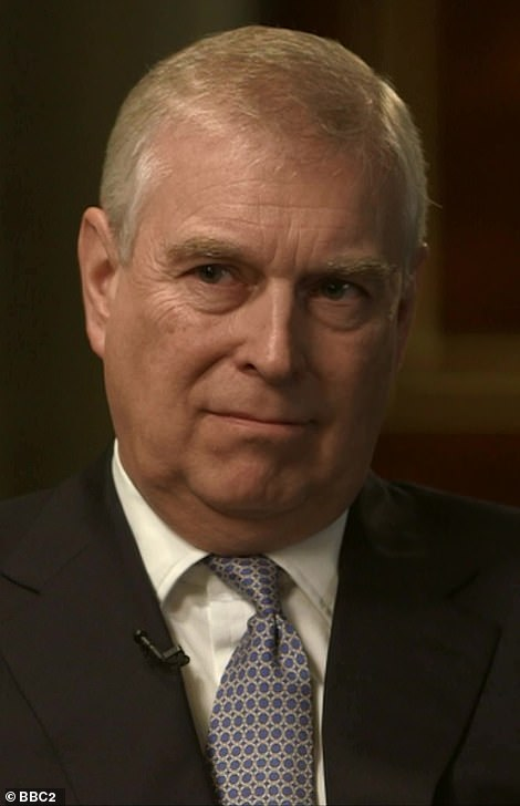 The Duke of York's claims he 'never really partied' in the BBC interview (pictured) are undermined by footage exclusively published by MailOnline today