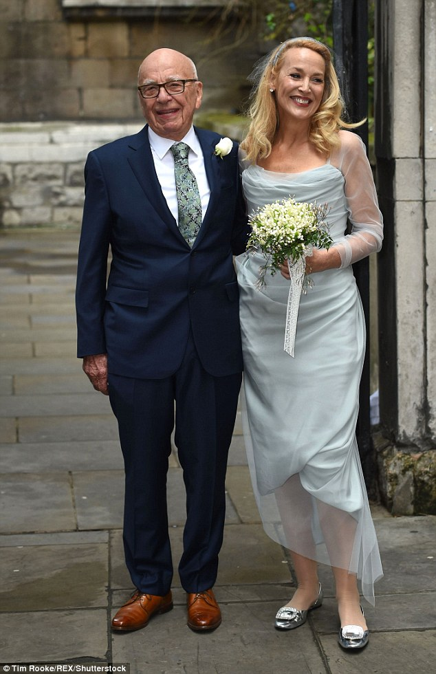 Couple: He and Georgia's mother Jerry Hall tied the knot in March 2016