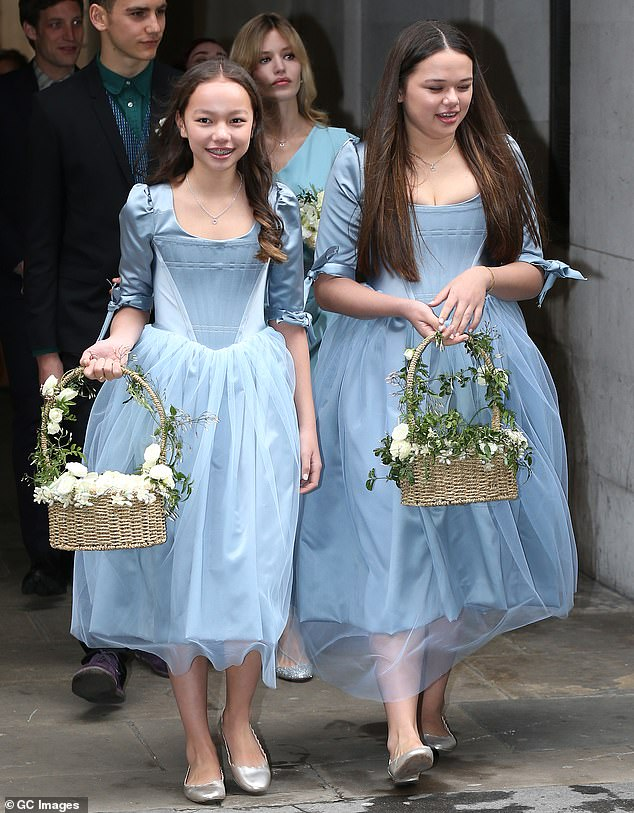 Flashback: It was the last time that Chloe and Grace (pictured front) were seen publicly with Georgia (seen behind her stepsisters)