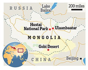 A map of Mongolia, which has a population of just 3.1 million