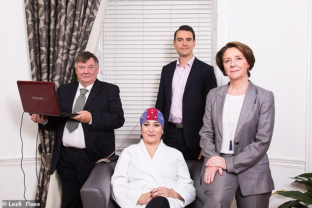 Sarah with the Viavi team, including Dr Sabine Donnai, right, who was previously the regional clinical director of Bupa