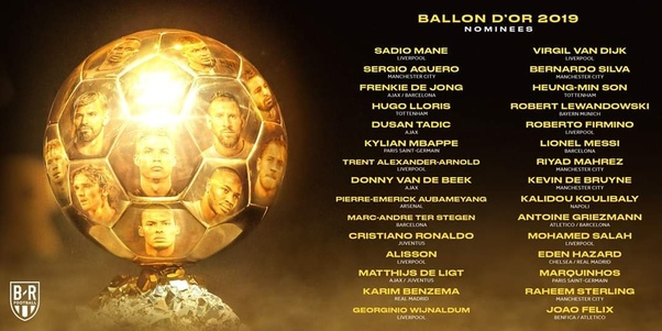 Image result for ballon d'or 2019 nominees