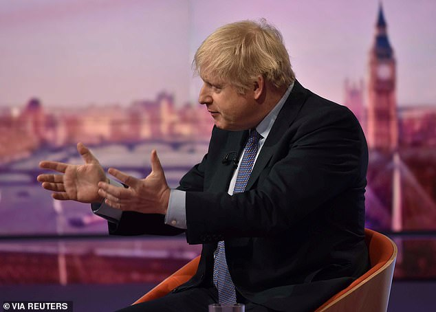 Boris Johnson (pictured on the BBC's Andrew Marr show yesterday) has launched a crackdown after 28-year-old convicted terrorist Usman Khan went on a rampage while out of prison on licence last week