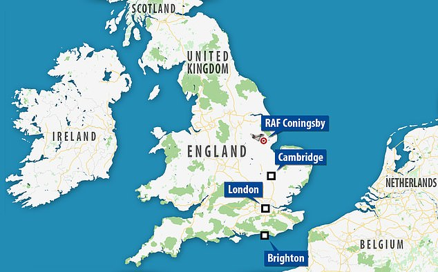 Two Eurofighter Typhoons taking off from RAF Coningsby in Lincolnshire were the source of the sonic boom. The boom could be heard as far south as Brighton