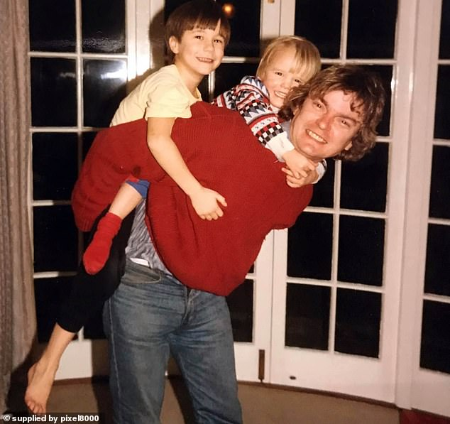 Richard Challen with son David as a child, centre and brother James. David has now said that he felt sorry for his father