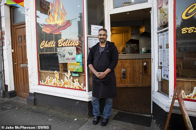 Neil D'Souza, owner of Chilli Bellies in Bristol, is among those angry at the teachers currently patrolling streets after school time