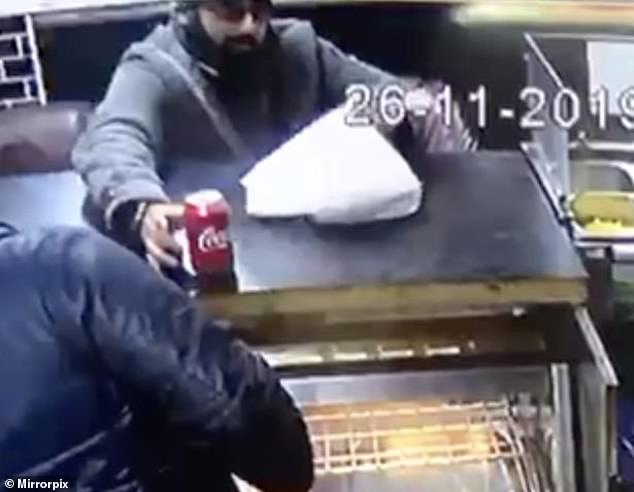 London Bridge terrorist Usman Khan pictured buying food from a takeaway restaurant days before carrying out his attack which left two dead